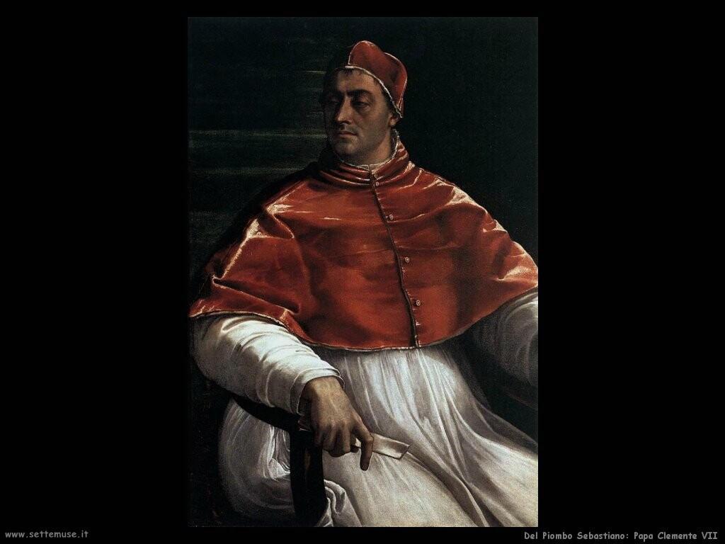del piombo sebastiano Papa Clemente VII