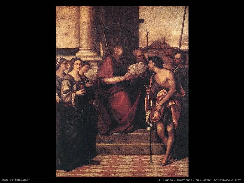 del piombo sebastiano San Giovanni Crisostomo