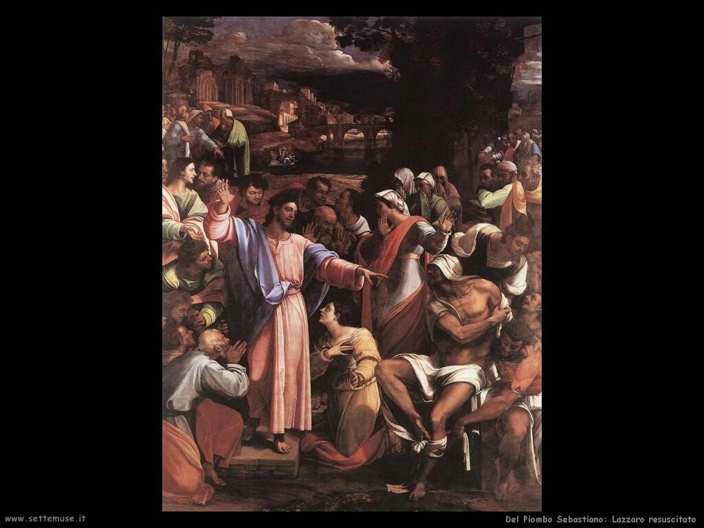 del piombo sebastiano Resurrezione di Lazzaro
