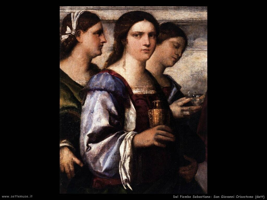 del piombo sebastiano  San Giovanni Crisostomo (dett)