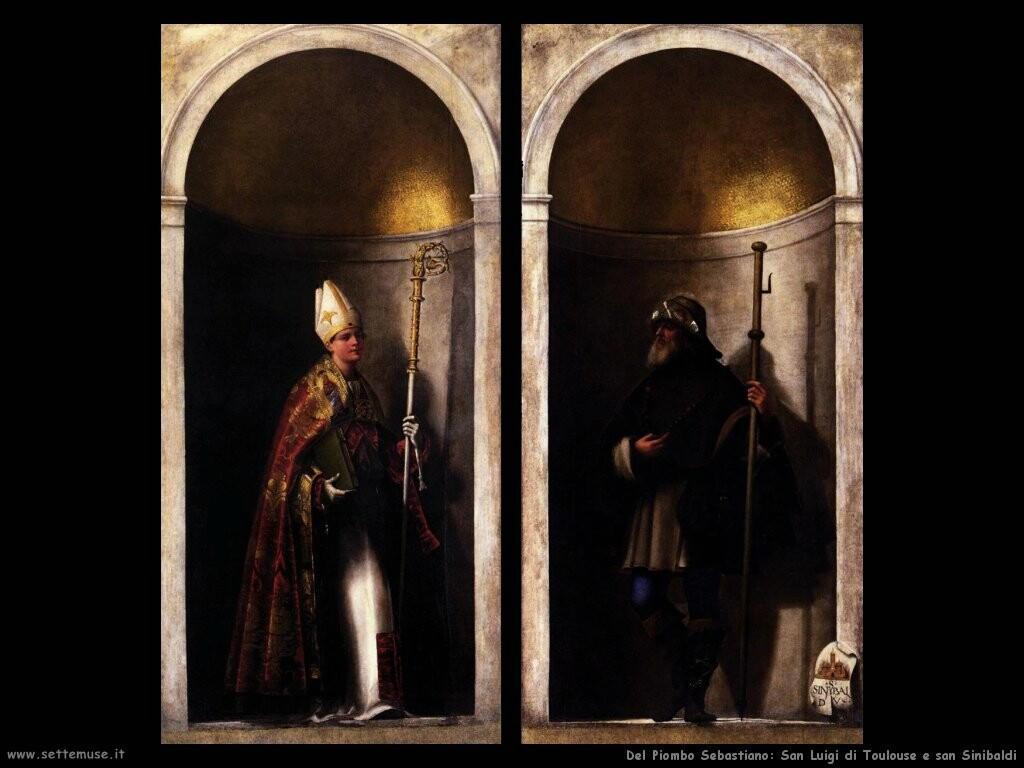 del piombo sebastiano  San Luigi di Toulouse e san Sinibaldi