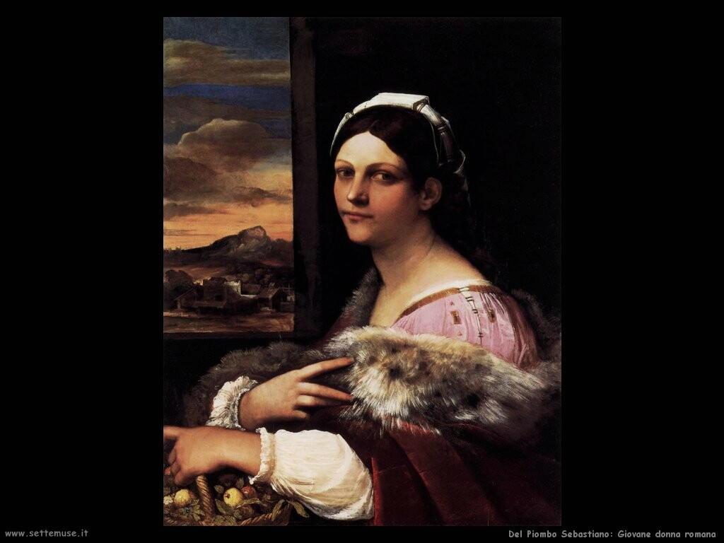 del piombo sebastiano  Giovane donna romana