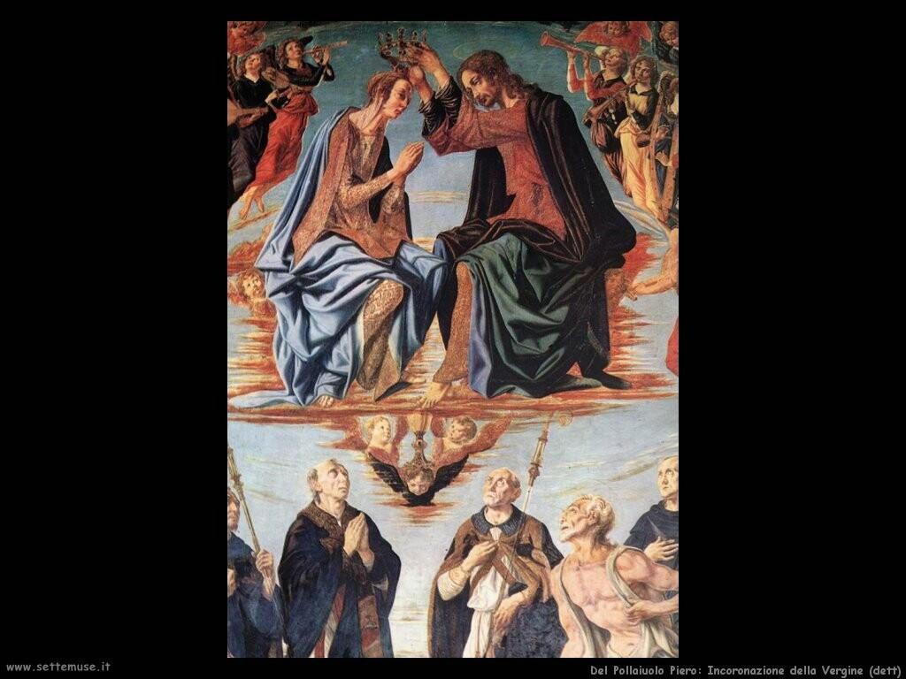 del pollaiuolo piero  Incoronazione della Vergine (dett)