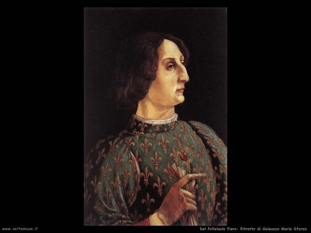 del pollaiuolo piero Ritratto di Galeazzo Maria Sforza