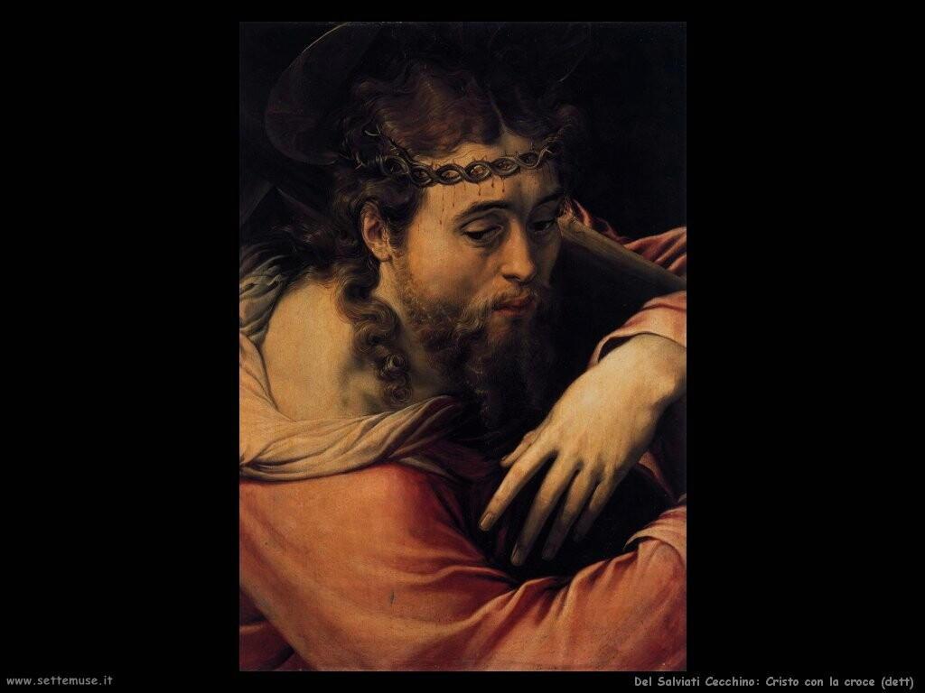 del salviati cecchino Cristo con la croce (dett)
