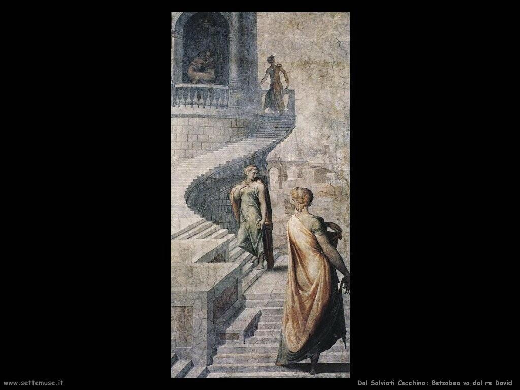 del salviati cecchino Betsabea va da re David