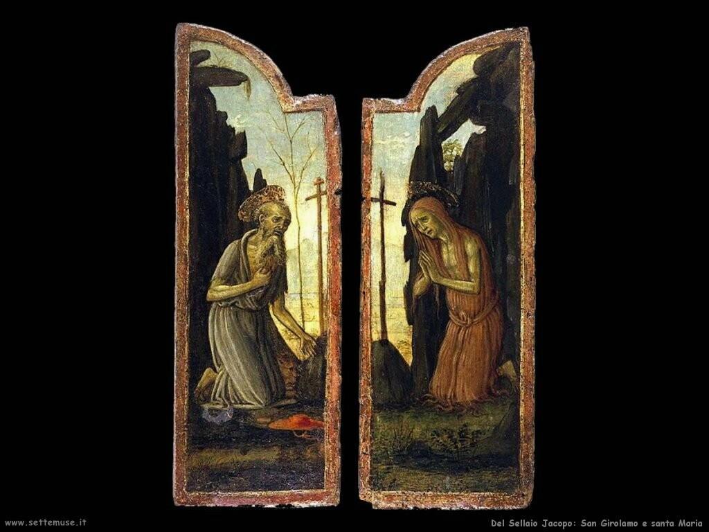 del sellaio jacopo  San Girolamo e santa Maria