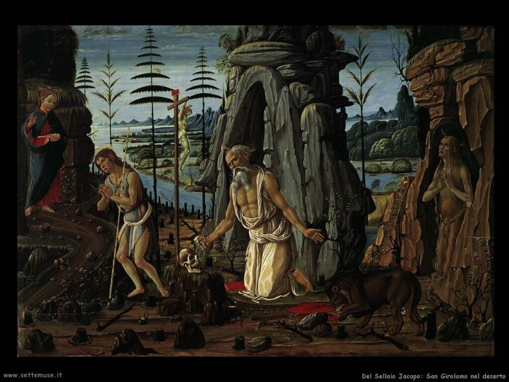 del sellaio jacopo  San Girolamo nel deserto
