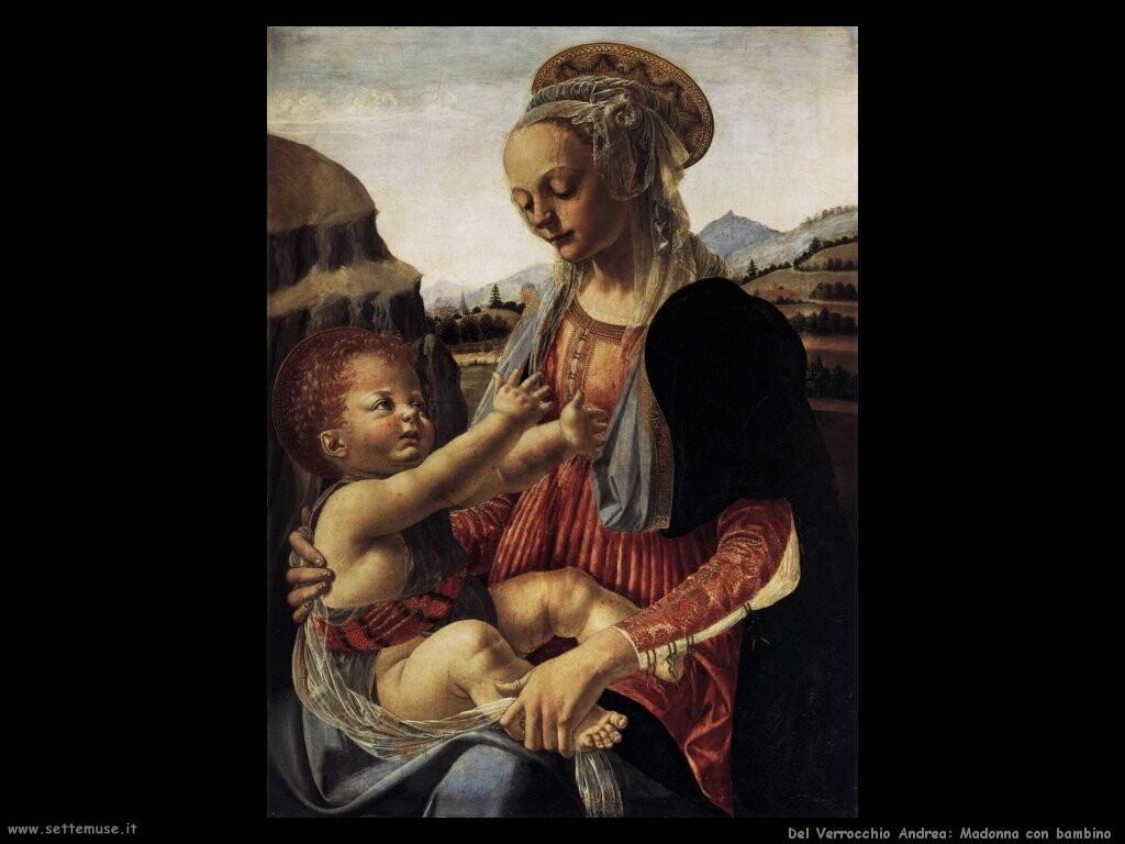 del verrocchio andrea Madonna con bambino