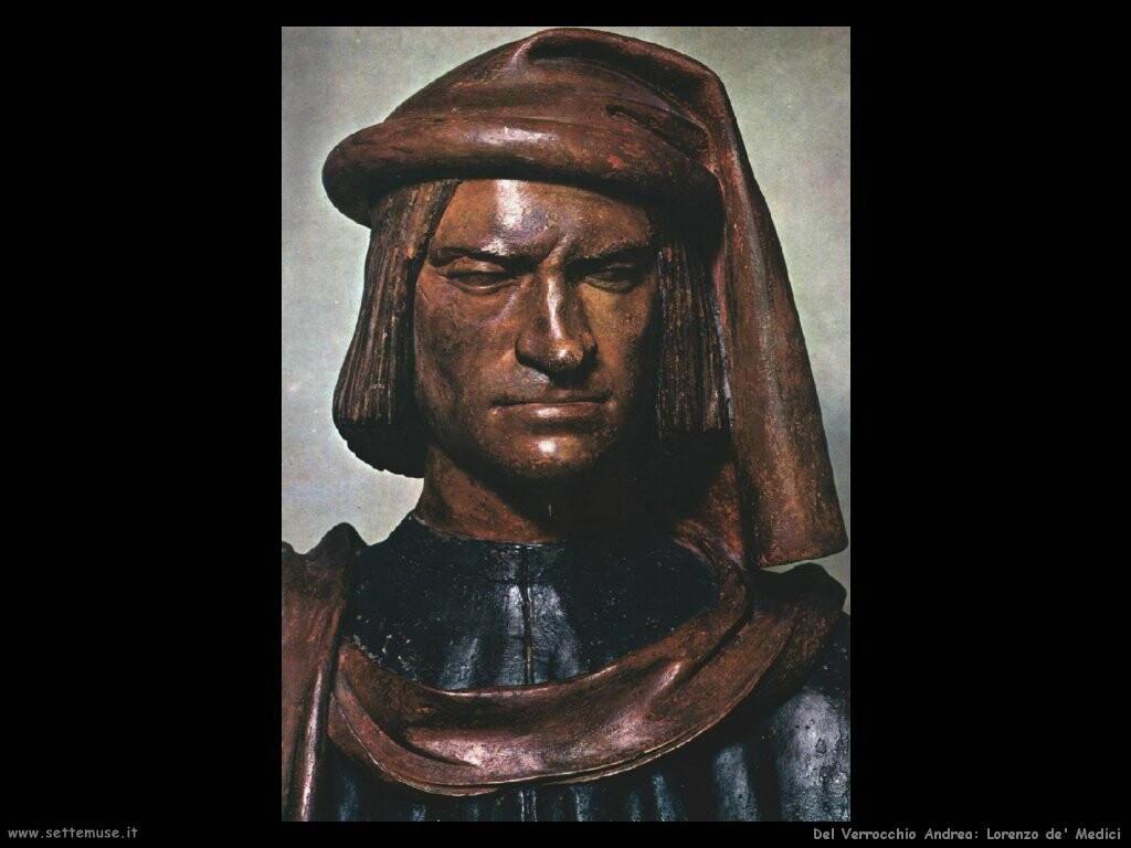 del verrocchio andrea Lorenzo de' Medici