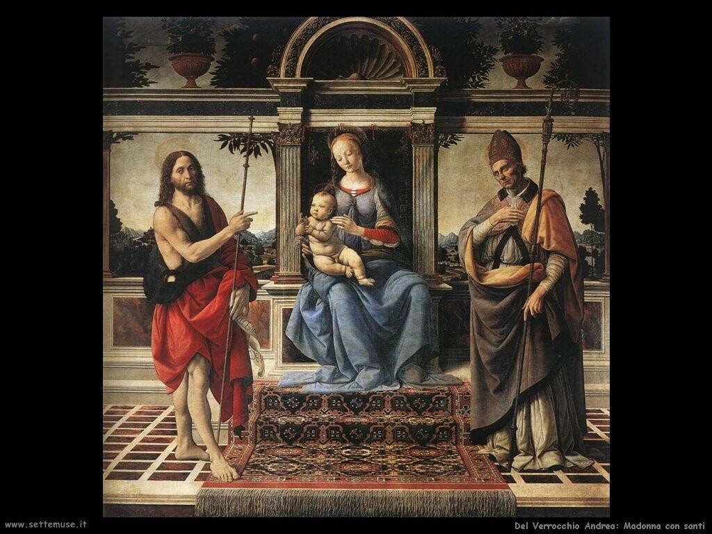 del verrocchio andrea  Madonna con santi