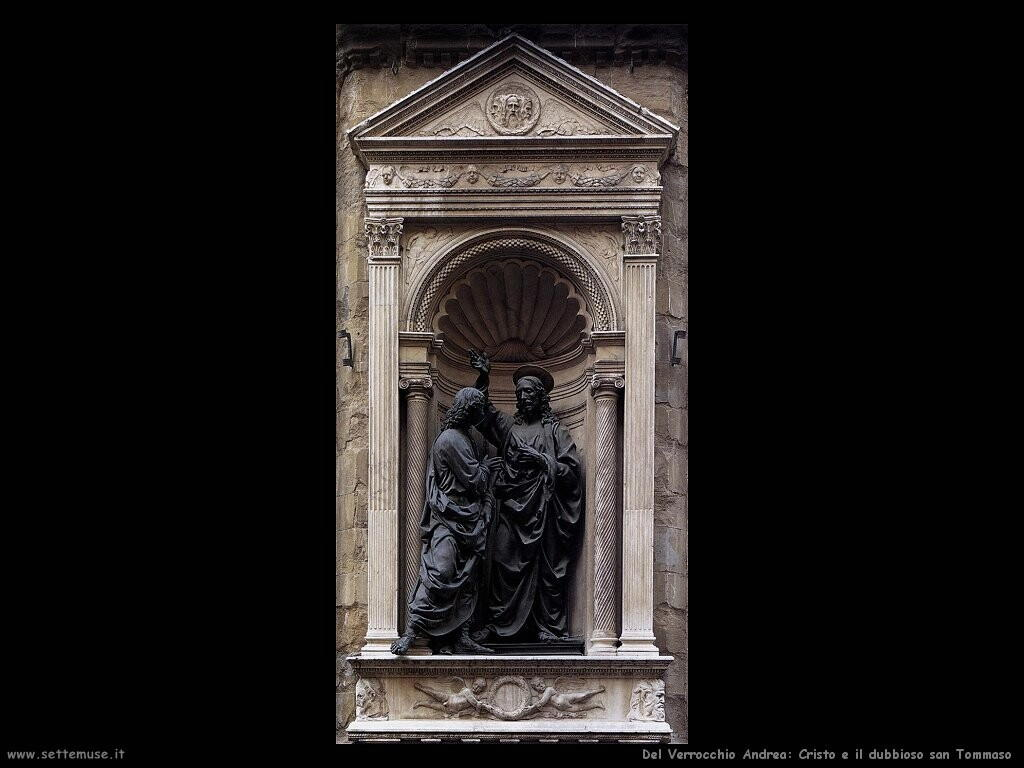 del verrocchio andrea  Cristo e il diffidente san Tommaso