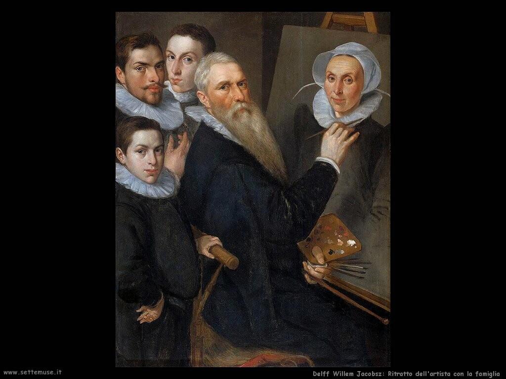 delff willem jacobsz Ritratto dell'artista con famiglia