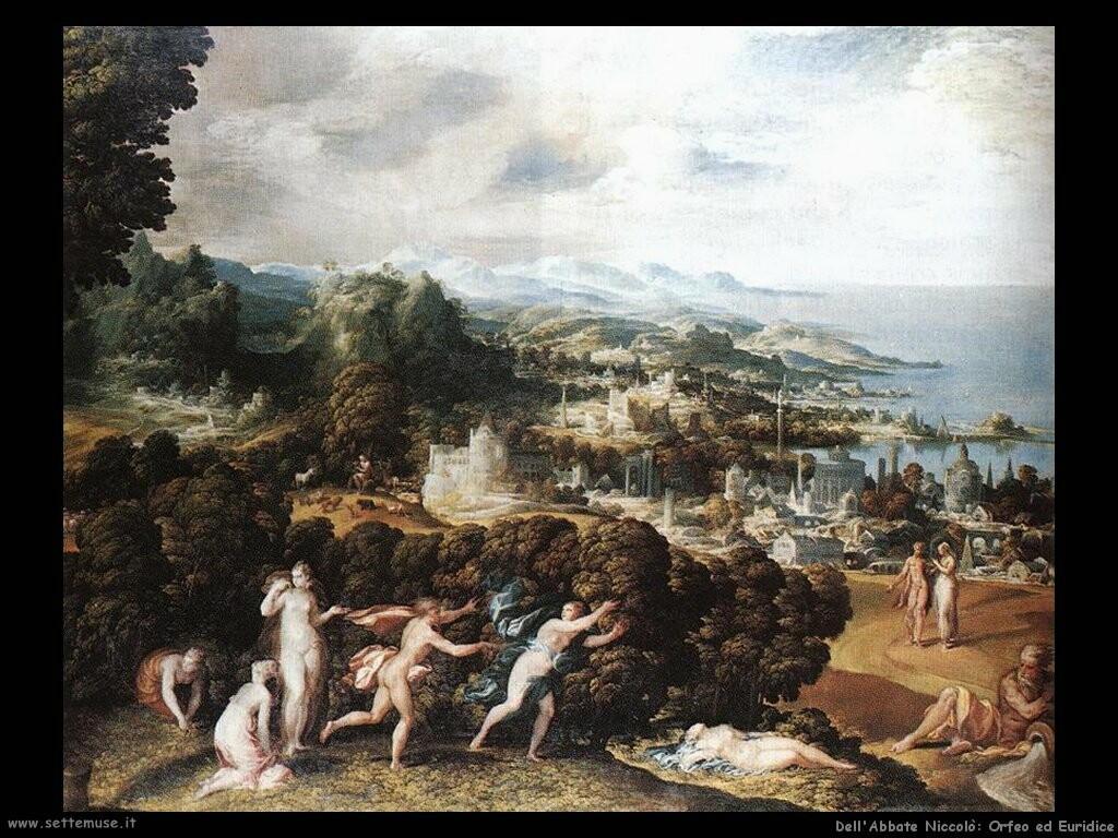 dell abbate niccolo Orfeo ed Euridice
