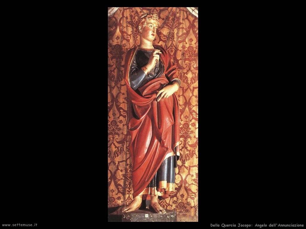 della quercia jacopo  Annunciazione, l'angelo