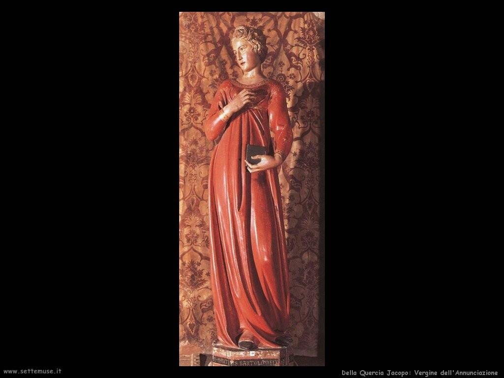 della quercia jacopo Annunciazione, la Vergine