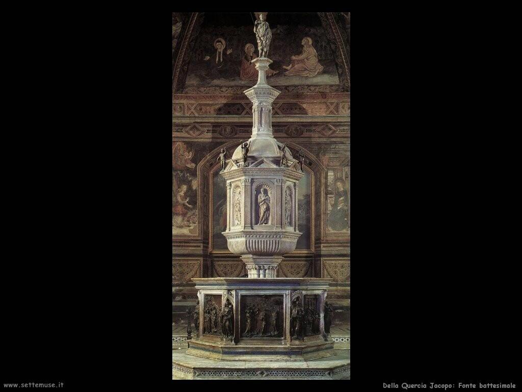 della quercia jacopo Fonte battesimale