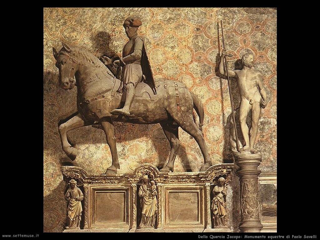 della quercia jacopo  Monumento equestre di Paolo Savelli