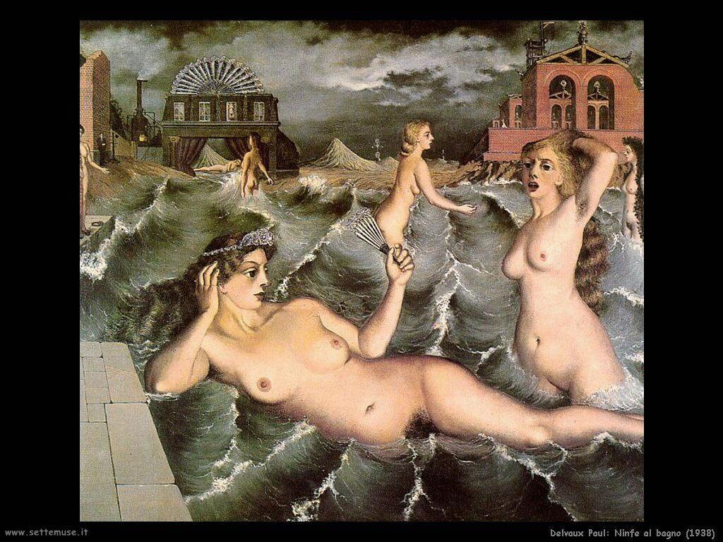 Delvaux Paul Ninfe al bagno (1938)