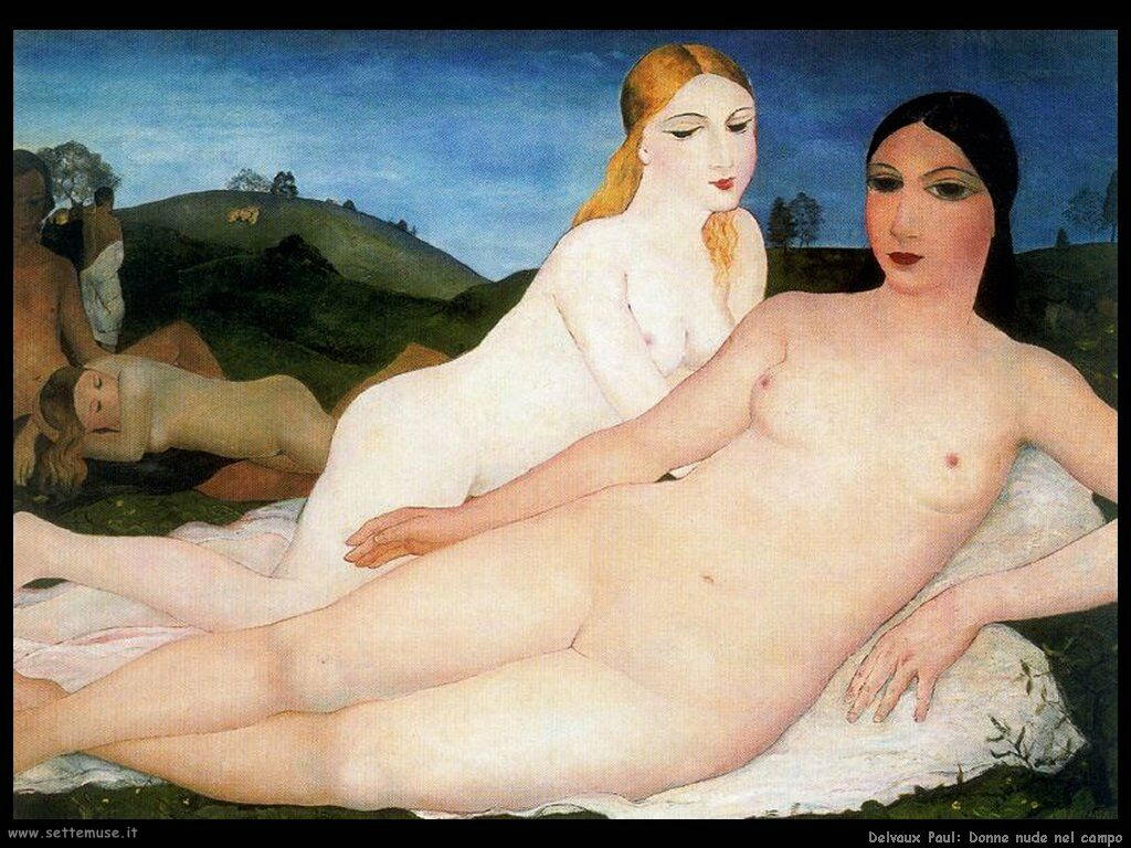 Delvaux Paul Donne nude nel campo