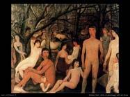 Delvaux Paul Serie di personaggi nudi nel bosco