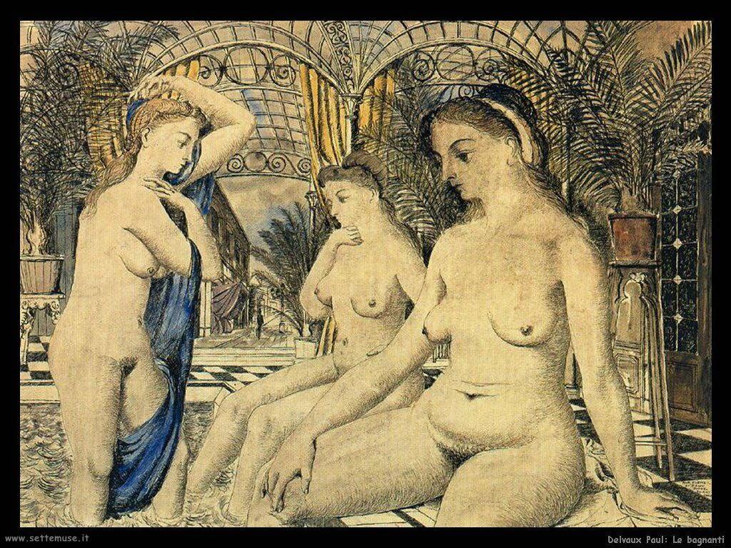 Delvaux Paul Le bagnanti