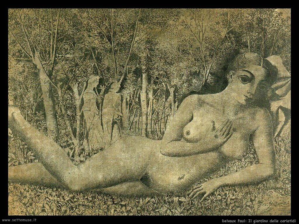 Delvaux Paul Il giardino delle cariatidi