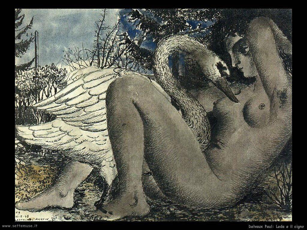 Delvaux Paul Leda e il cigno