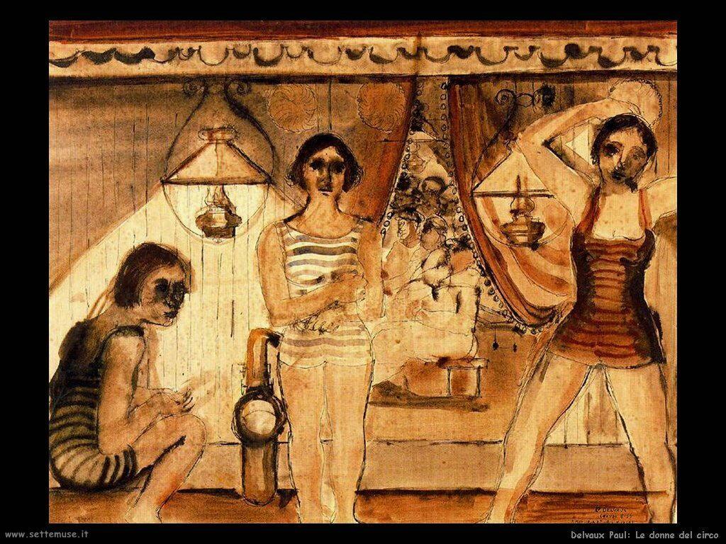 Delvaux Paul Le donne del circo