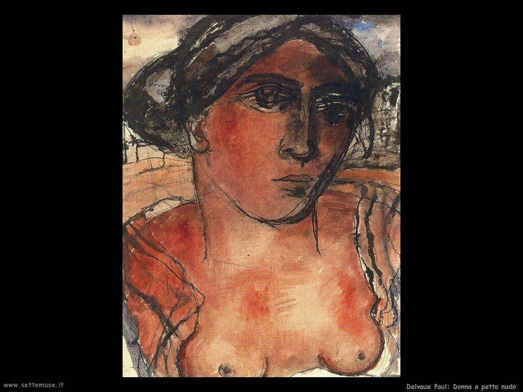 Delvaux Paul Donna a petto nudo