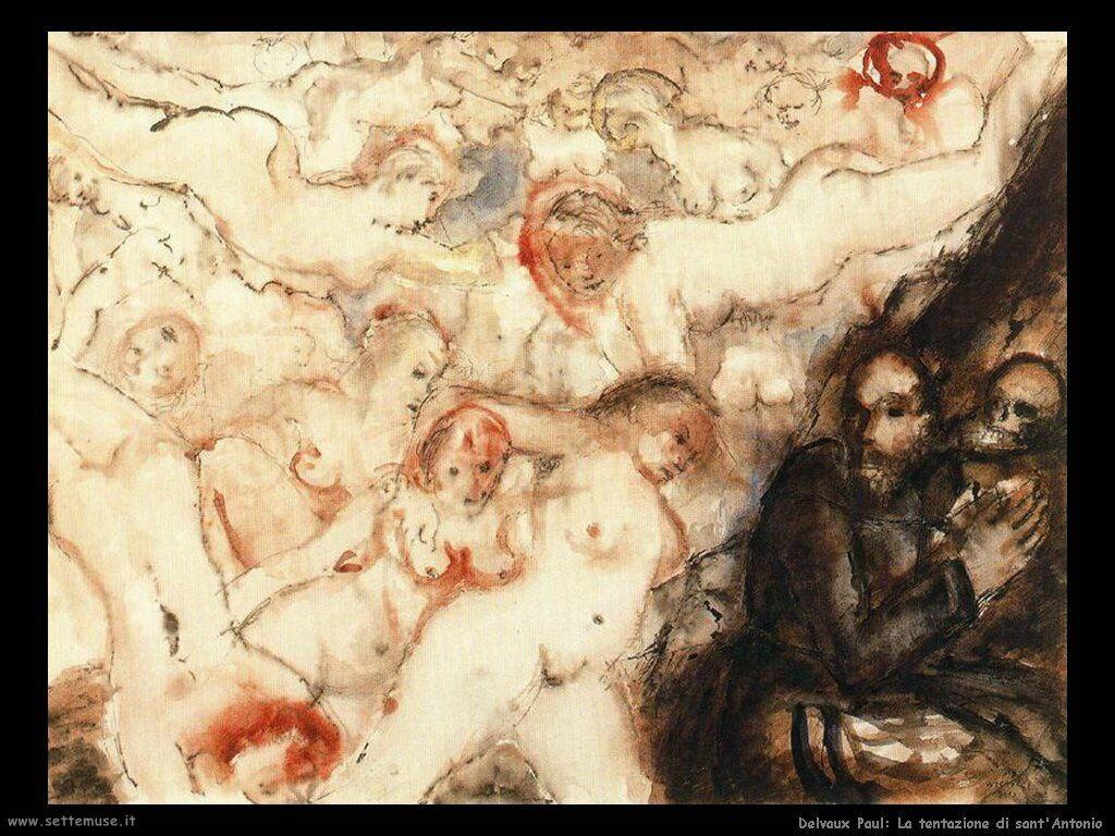 Delvaux Paul La tentazione di sant'Antonio