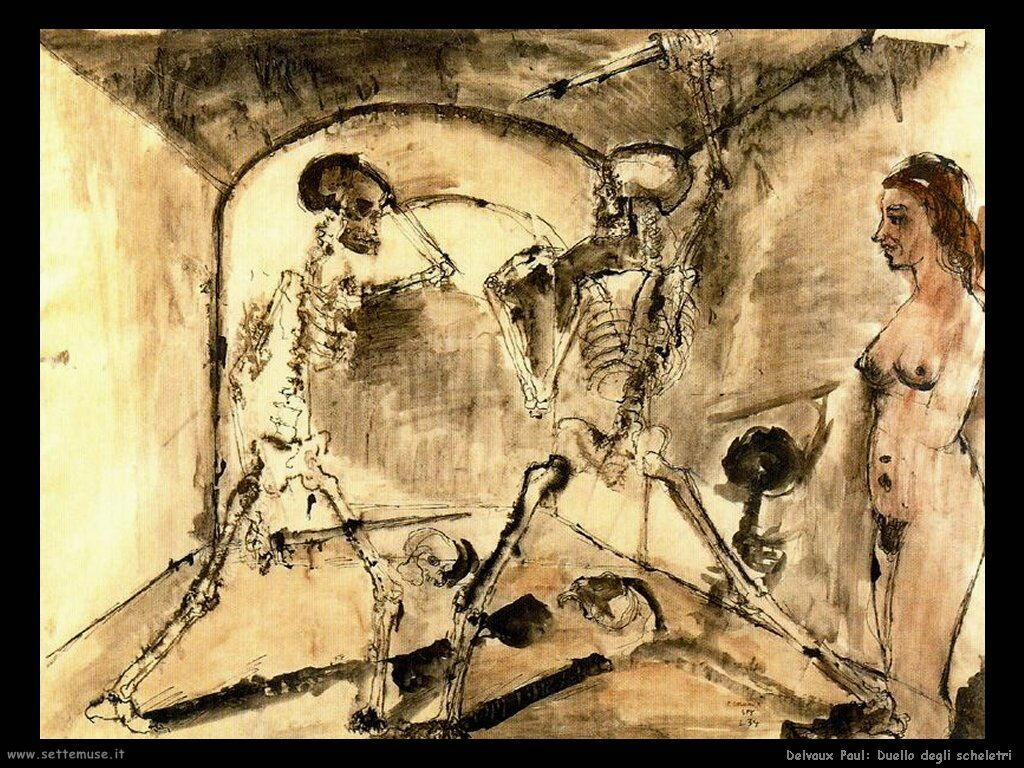 Delvaux Paul Duello degli scheletri