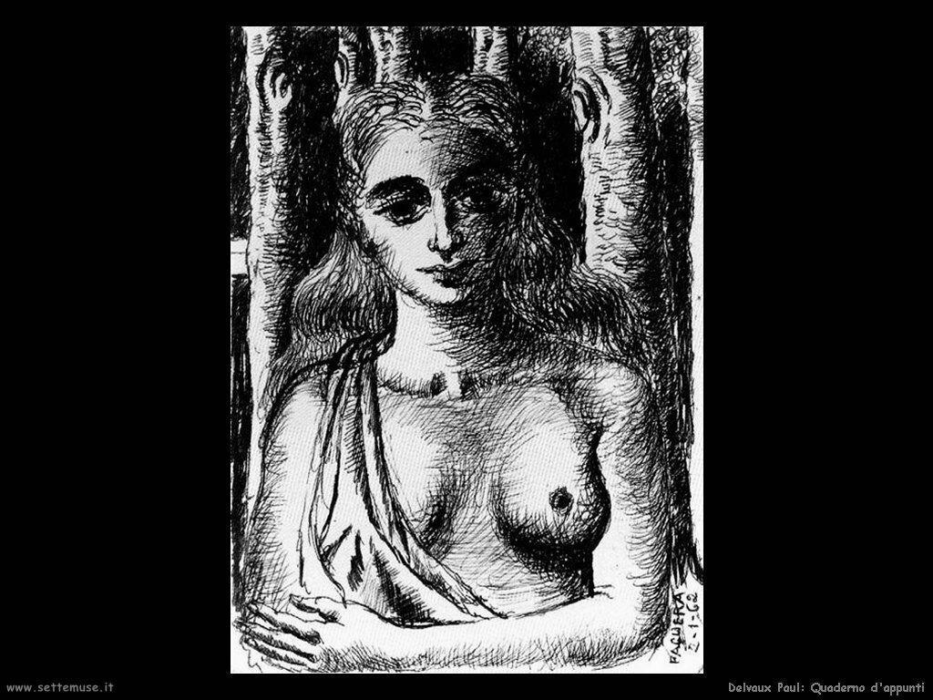 Delvaux Paul Quaderno d'appunti