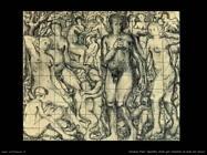 Delvaux Paul Quattro studi per Comitiva di nudi nel bosco