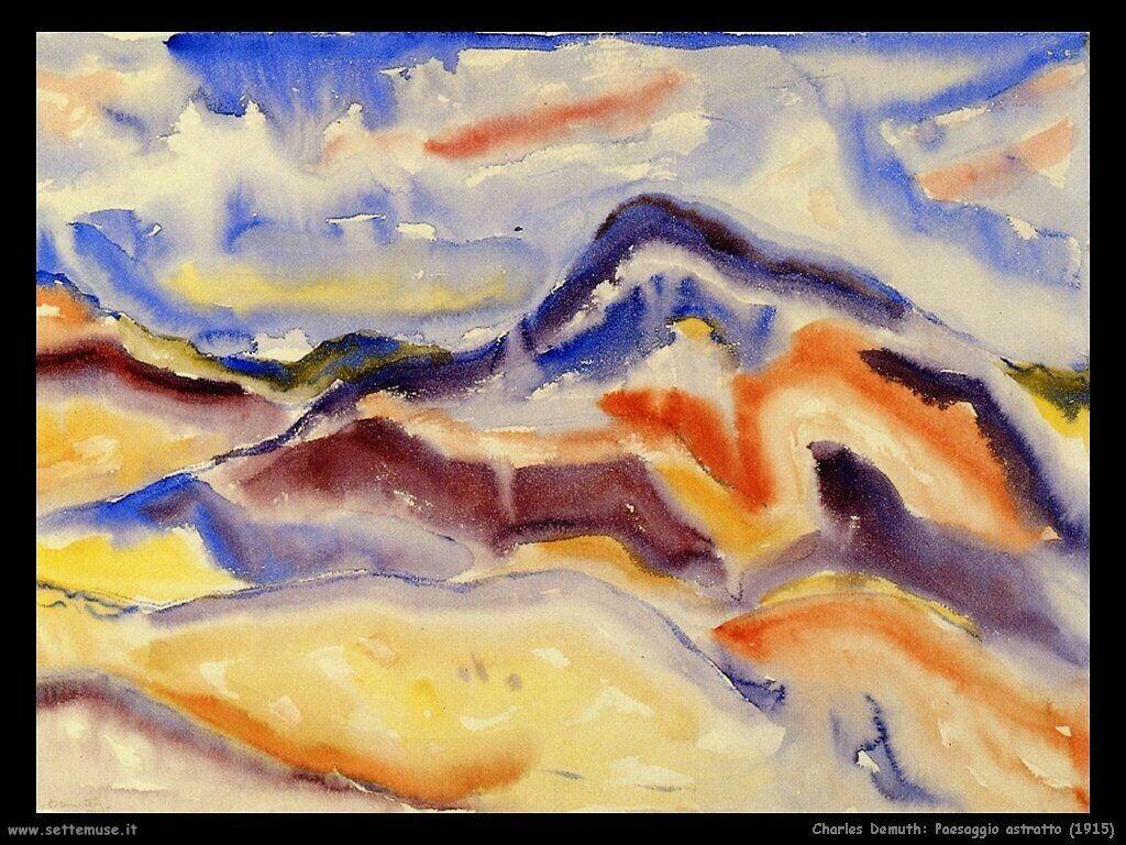 demuth charles Paesaggio astratto (1915)