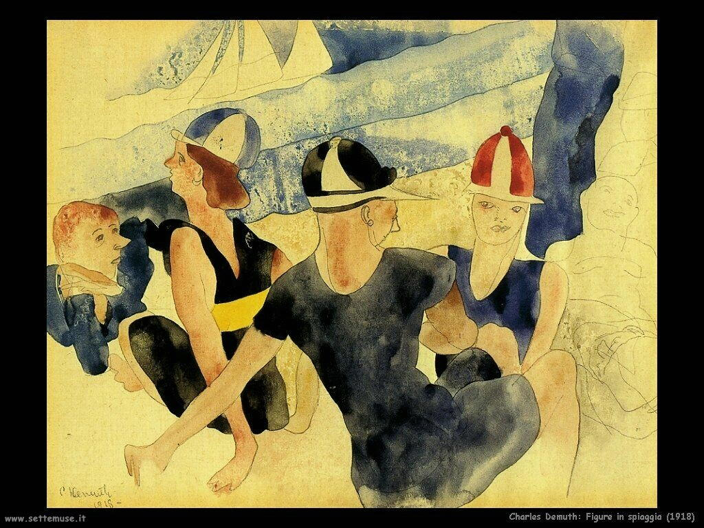 demuth charles Figure in spiaggia (1918)
