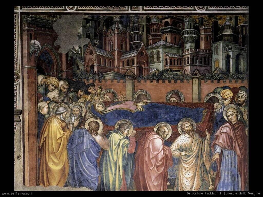 di bartolo taddeo  Il funerale della Vergine