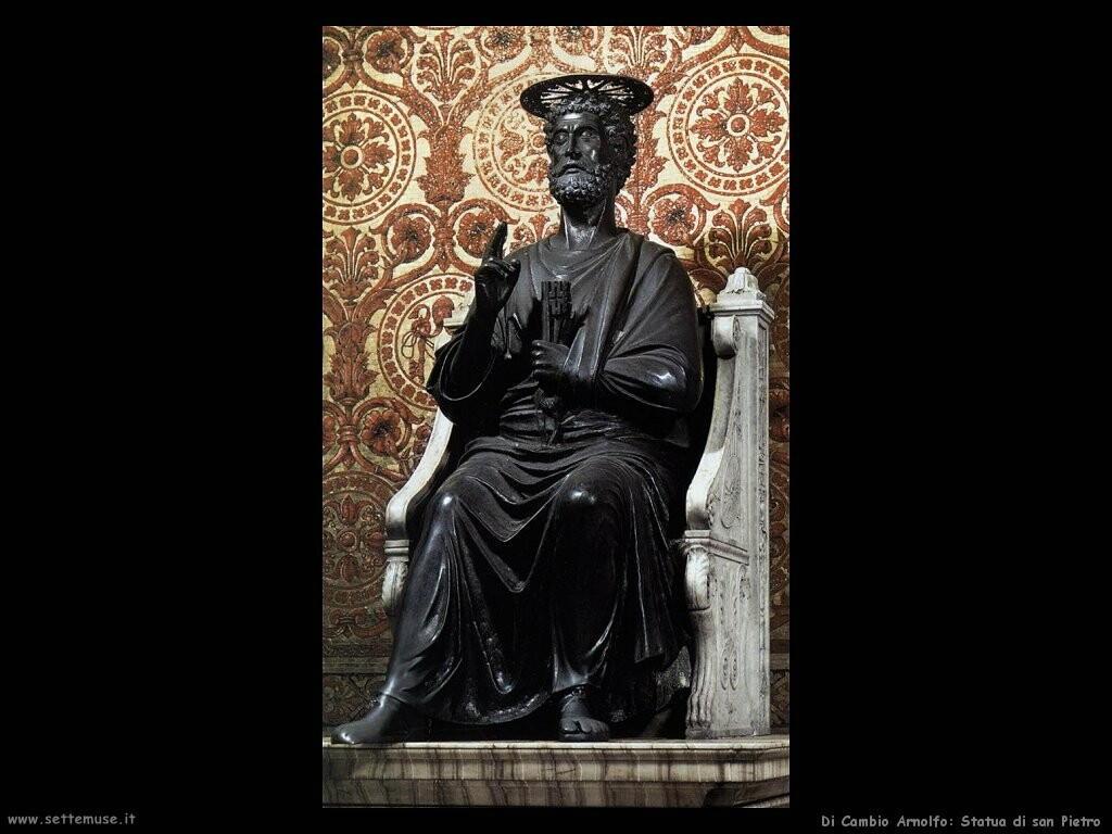 di cambio arnolfo Statua di san Pietro