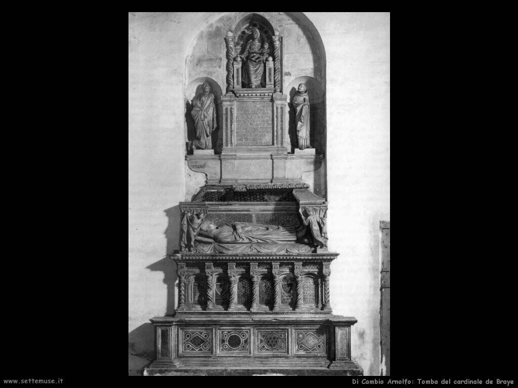 di cambio arnolfo Tomba del cardinale de Braye