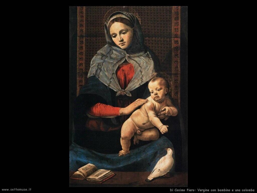 di cosimo piero Vergine con bambino e una colomba