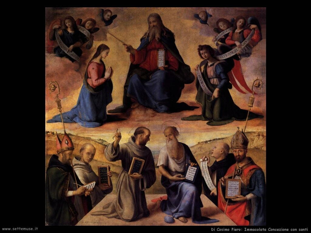 di cosimo piero   immaculate_conception_with_saints