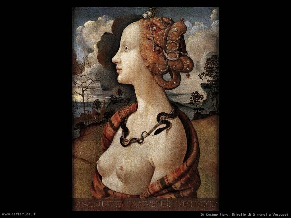 di cosimo piero Ritratto di Simonetta Vespucci