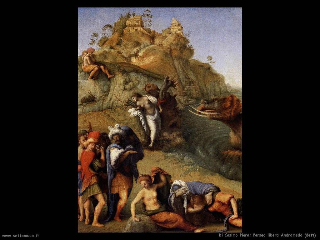 di cosimo piero Perseo libera Andromeda (dett)