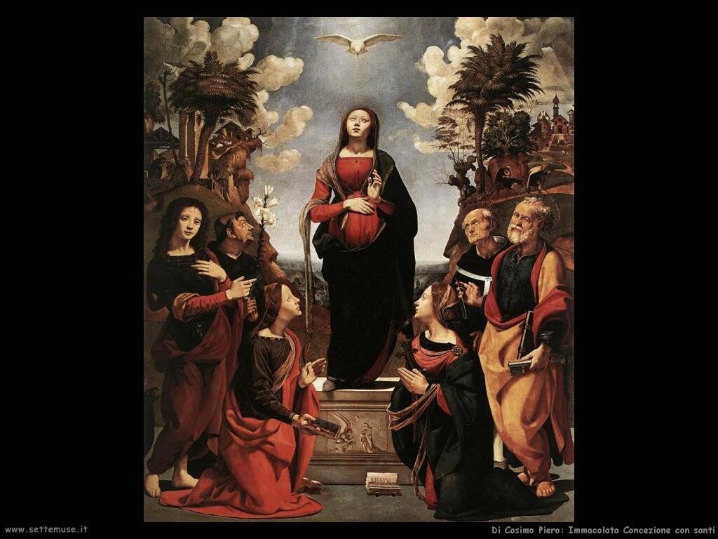 di cosimo piero Immacolata concezione con santi