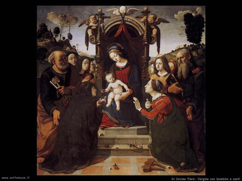 di cosimo piero Vergine con bambino in trono
