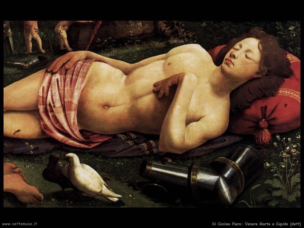 di cosimo piero Venere, Marte e Cupido (dett)