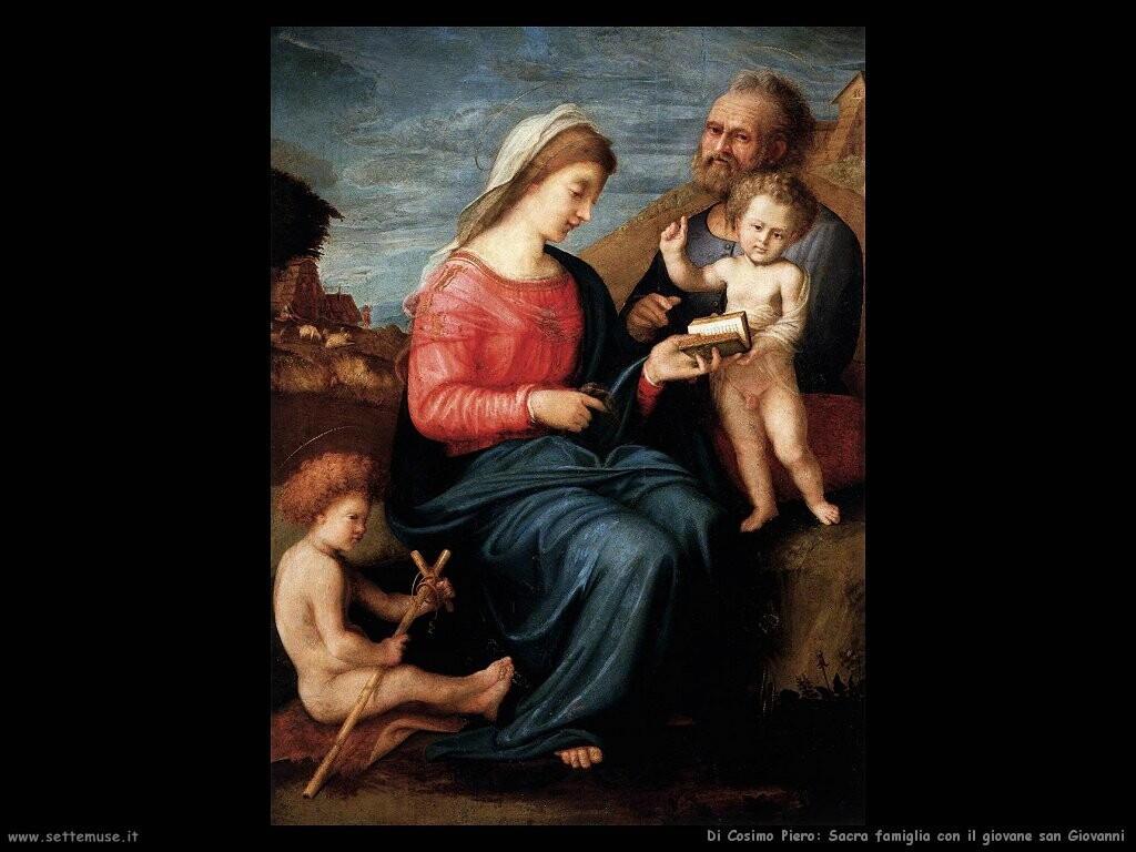 di cosimo piero Sacra famiglia col giovane san Giovanni battista