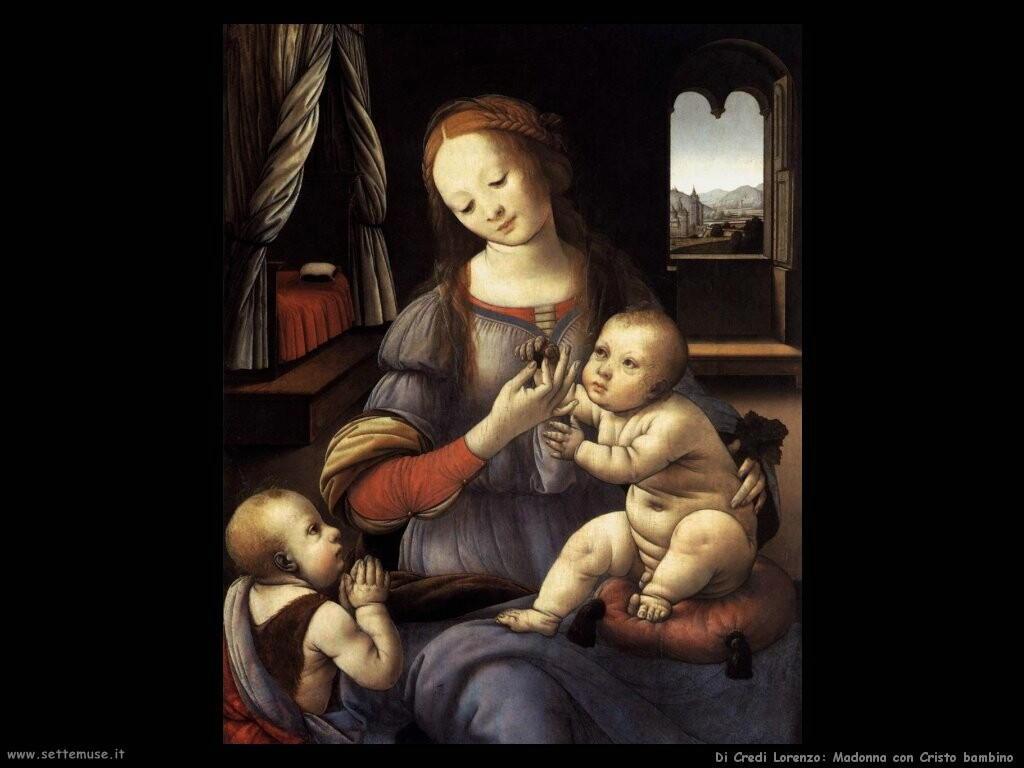 di credi lorenzo Madonna col Cristo bambino