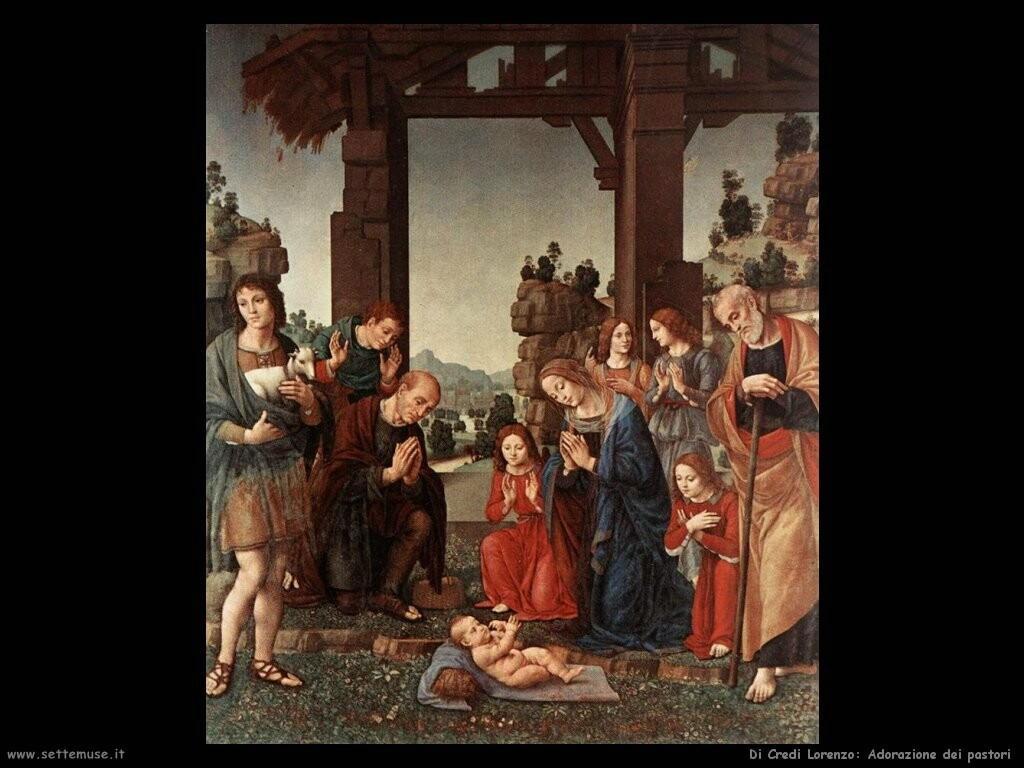 di credi lorenzo Adorazione dei pastori