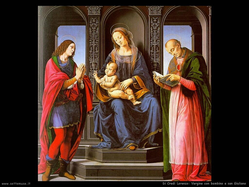 di credi lorenzo La Vergine il bambino con san Giuliano
